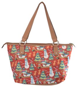 Lily Bloom Tote in red/white