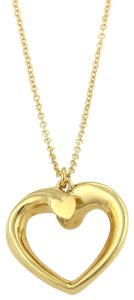 Tiffany & Co. Picasso Tenderness Heart 18k Yellow Gold Pendant Necklace