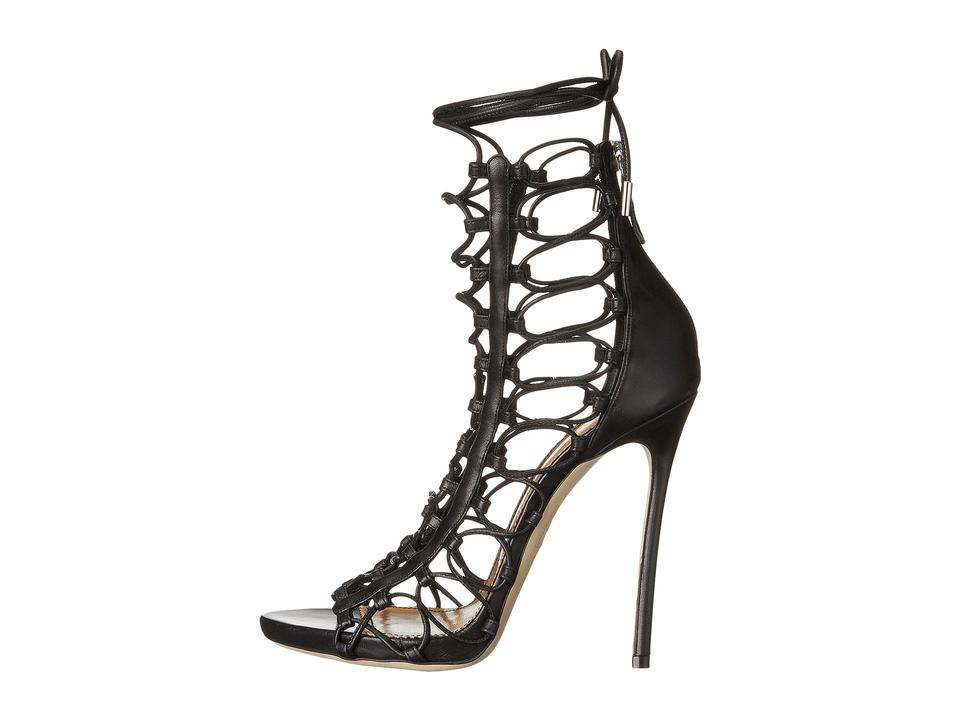 fd7f5ffd40 Dsquared2 Black Leather Ayers Lace Up High Heels S Sandals Size EU ...