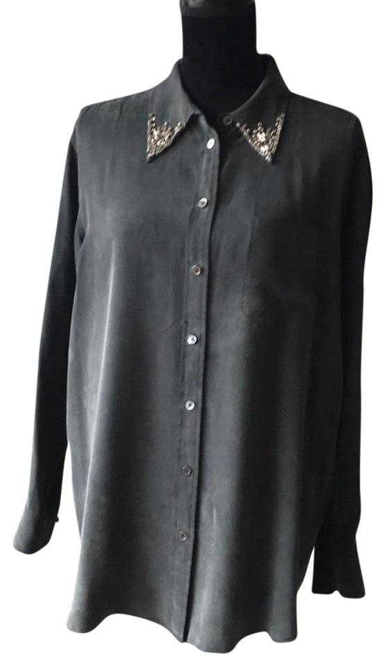 48b526060016ca Equipment Black Silk Shirt Button-down Top Size 6 (S) - Tradesy