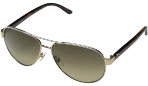 0273ced464f Gucci NEW Gucci GG 4239 S White Gold Aviator Sunglasses Polarized