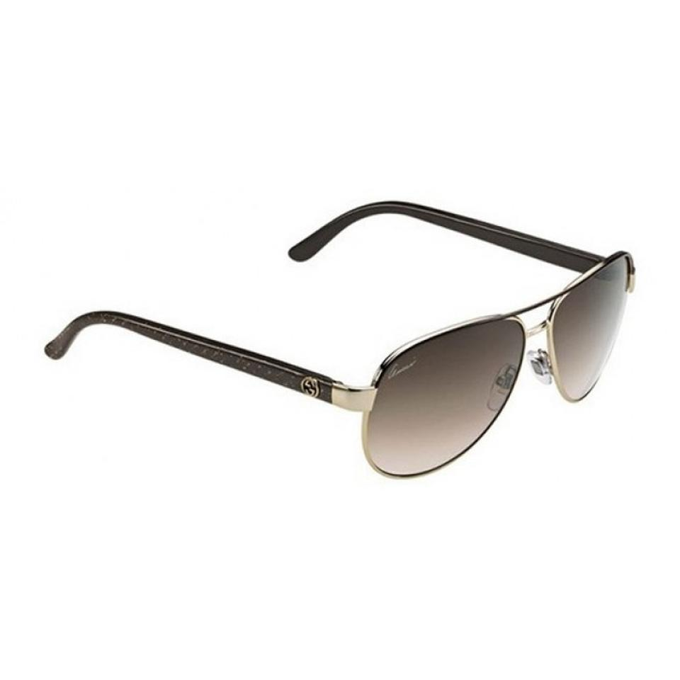 ae974b35140 Gucci NEW Gucci GG 4239 S Black Gold Glitter Aviator Sunglasses Metal Image  0 ...
