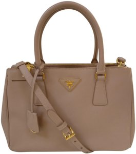 Prada Saffiano Leather Galleria Double Cross Body Bag