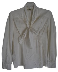 American Star Cream Blouse with Tie Detailed Neck