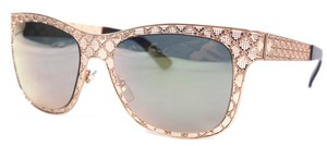 Gucci NEW Gucci Logo Rose Gold Mirrored Diamante Mesh Sunglasses GG 4266/S
