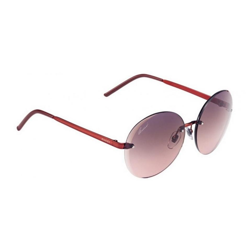 5922698836d Gucci New GUCCI GG4247 S Rimless Red Round Flora Circle Sunglasses Image 0  ...