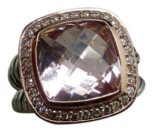David Yurman Albion ring with morganite and rose gold