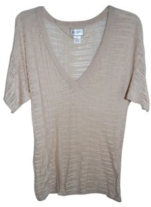 Motherhood Maternity Shortsleeved V-Neck Sheer Maternity Knit Sweater