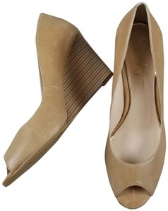 Jessica Simpson Beige Wedges