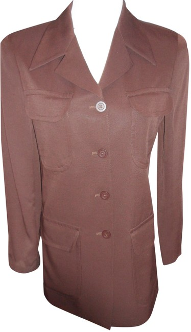 Item - Brown Made In Italy Elegant Ladies Buttons Blazer Size 8 (M)