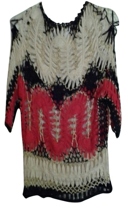Preload https://item4.tradesy.com/images/red-black-and-white-blouse-size-24-plus-2x-2248903-0-0.jpg?width=400&height=650