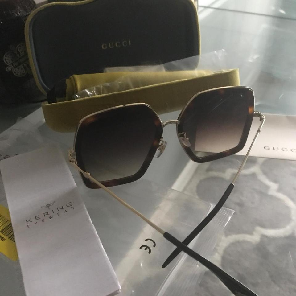 04eaf2486a09d Gucci Gucci Squared GG0106S Sunglasses seen on JLO Image 11. 123456789101112