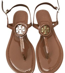 ff9e6ce5ecda Tory Burch British Tan Gigi Sandals Size US 7.5 Regular (M