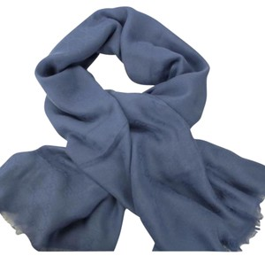Gucci GUCCI embossed blue women's scarf