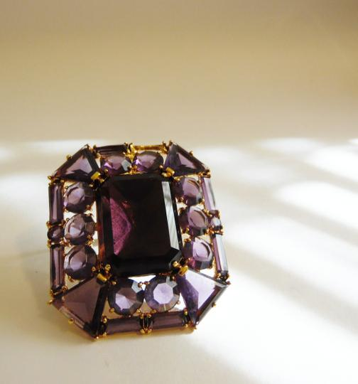 V By Eva V By Eva Large Amethyst Gemstone Enhancer without chain