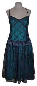 Kimchi Blue Anthropologie Lace Overlay Party Peplum Dress