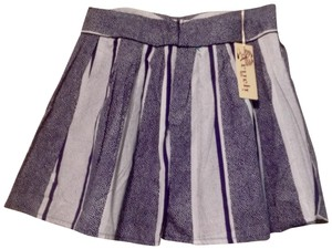 Aryeh Mini Skirt Blue and white