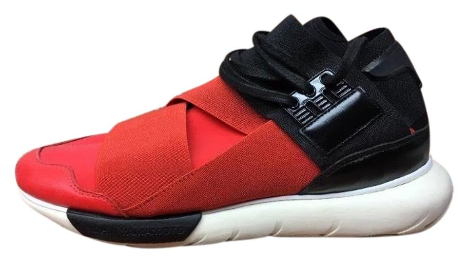 dc4a0a71de13 Red Adidas Y-3 Qasa High Red(Rare) Neoprene Men s Trainer Sneakers ...