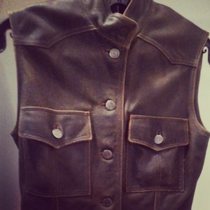 Chanel Distrssed Leather Vest