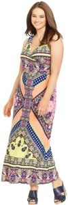 pink yellow Maxi Dress by NY Collection