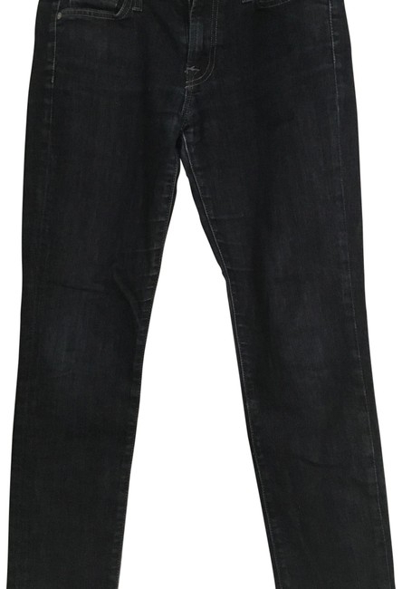 7 For All Mankind Dark Rinse Skinny Jeans Size 28 (4, S) 7 For All Mankind Dark Rinse Skinny Jeans Size 28 (4, S) Image 1