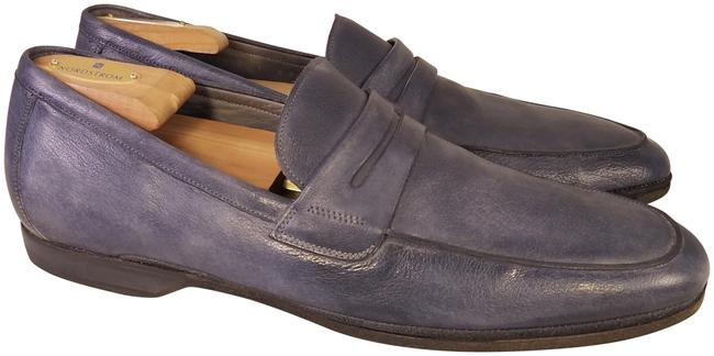 Item - Gray/Blueish Collection Italian Man Loafers Formal Shoes Size US 11 Regular (M, B)