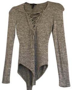 Express Top Gray Grey