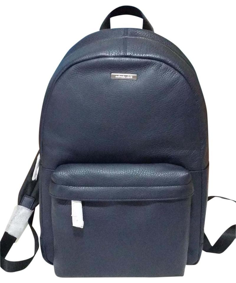 dc816eb025932 Michael Kors Mens Stephen Navy Blue Leather Backpack - Tradesy