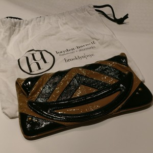 Hayden-Harnett Black and tan Clutch