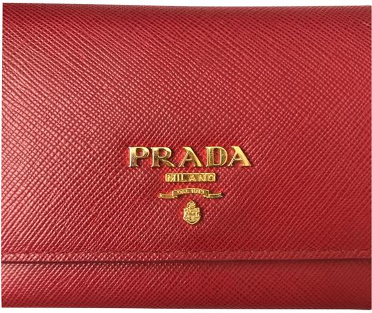 5cb15d5a Prada Red Leather Card Case with Removable Card Case Wallet 14% off retail