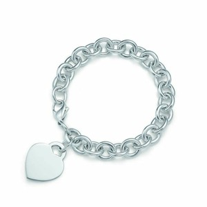 "Tiffany & Co. Large 8"" Plain heart tag bracelet"
