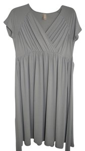 Merona Pewter Gray Maternity Faux Wrap Dress