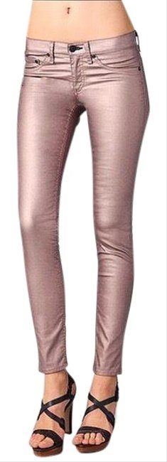 Item - Rose Gold Coated Leggings Skinny Jeans Size 24 (0, XS)