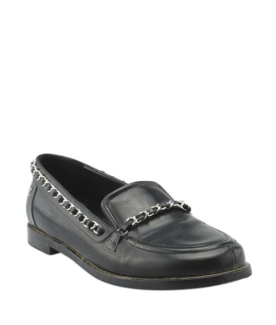 Item - Black Leather Chain Loafersx (139640) Formal Shoes Size US 8.5 Regular (M, B)