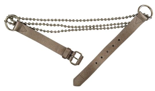 Esprit Esprit beaded chain and leather belt