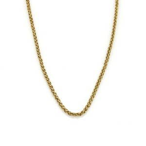 Cartier Woven Link 18k Yellow Gold Chain Necklace