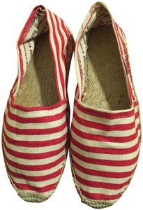 Soludos Espadrille Summer Red and white Flats