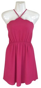 Monteau Los Angeles short dress pink Scalloped Halter Fit And Flare on Tradesy