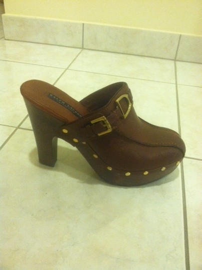 Ralph Lauren Leather Studded Classy Brown Mules