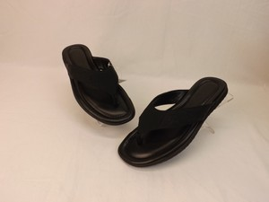 044db790787 Gucci Black Leather Guccissima Gg Thong Sandals Flip Flops 7 8  353765 Shoes