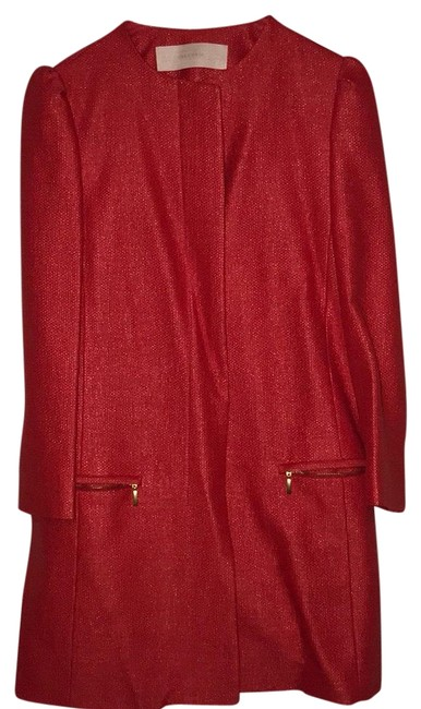 Item - Red Frock with Puff Sleeves Coat Size 4 (S)