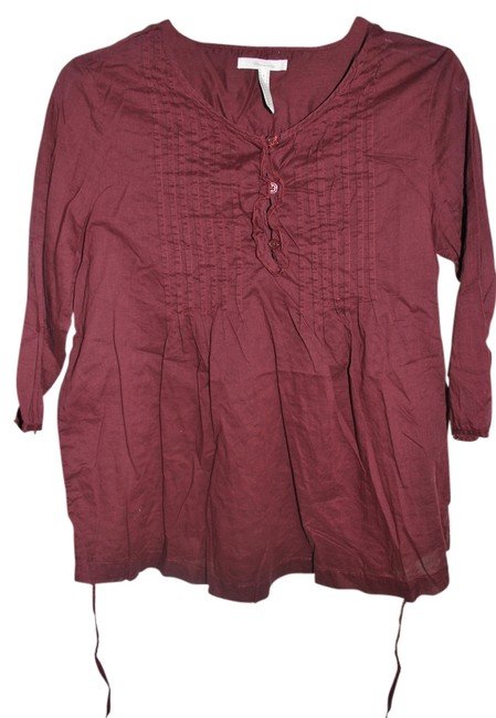 Old Navy Sheer Maternity Top with Pleated Details