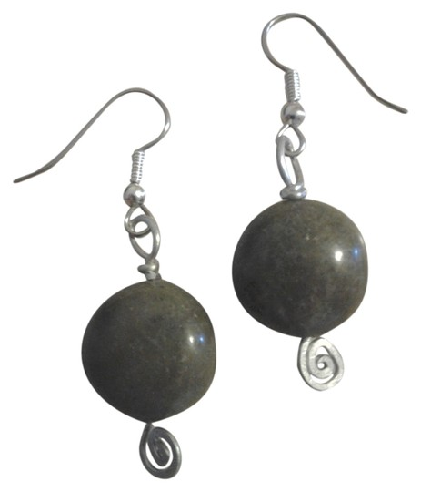 Other NEW Handmade Olive Serpentine Rounded Bead Dangle Drop Earrings Buy3Get1Free Sale