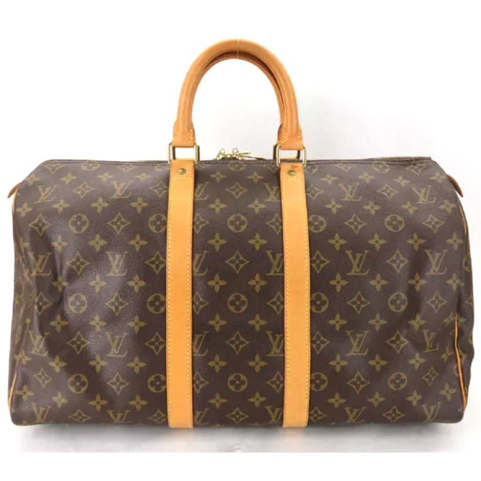 louis vuitton keepall monogram 45 great condition brown canvas weekend travel bag tradesy. Black Bedroom Furniture Sets. Home Design Ideas