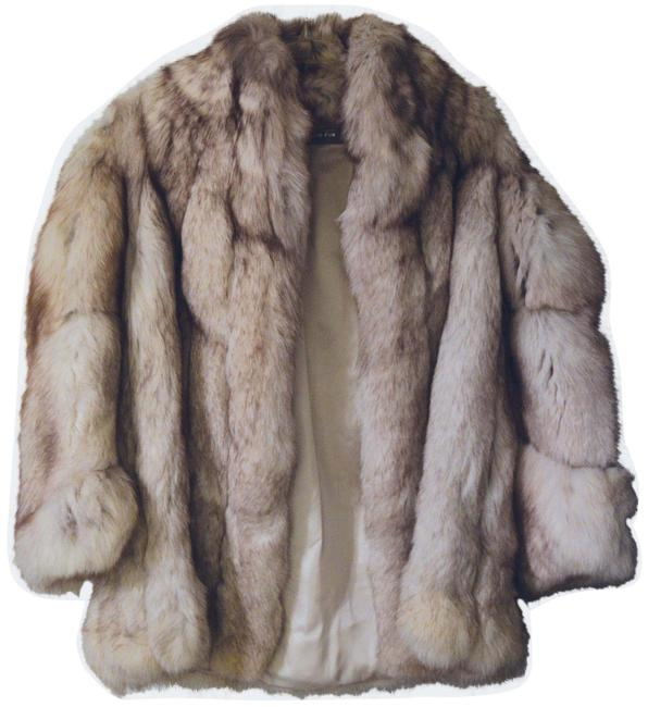 Item - Beige Fox Fur Coat Size 8 (M)
