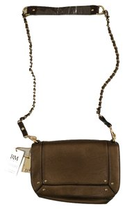 Robert Matthew Chain Gold Zipper Cross Body Bag