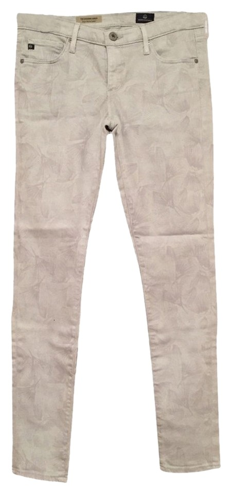 7e6a8995ba6fd5 AG Adriano Goldschmied Gray Cozy Twill Light Wash The Legging Ankle Skinny  Jeans