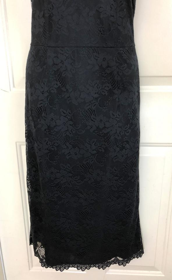 b3dc44927578 Isaac Mizrahi for Target Black Lace Halter Scalloped Midi Mid-length  Cocktail Dress Size 6 (S) - Tradesy
