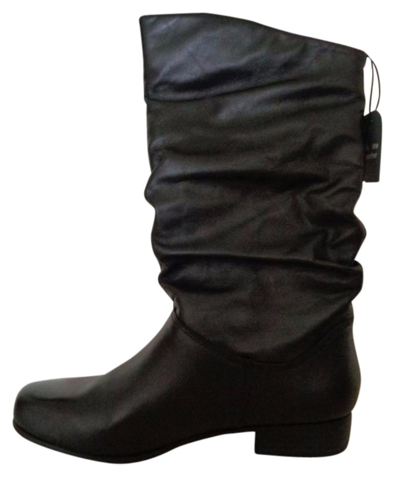 57f3fe5398dc8 St. John Black Jcpenney Bay Jamie Slouch Leather Womens M New Boots ...