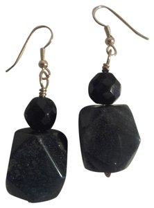 Handmade NEW Handmade Dark Green Aventurine Faceted Gemstone Chunky Earrings Buy3Get1Free Sale